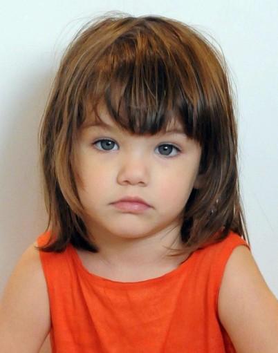 Прическа для коротких детских волос.