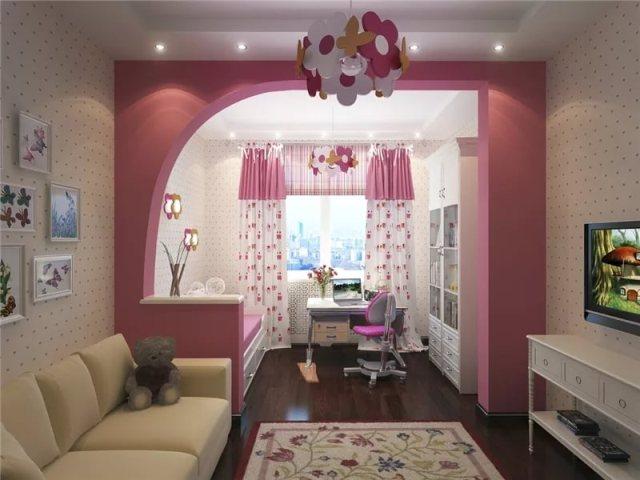 Как сделать детскую комнату для девочки.
