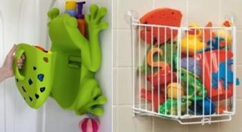 Место для игрушек в ванной
