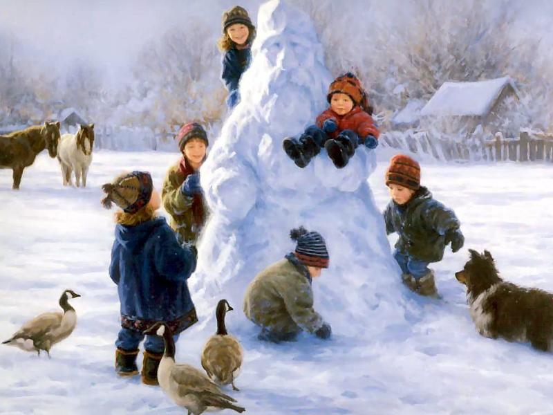 Зимние детские развлечения