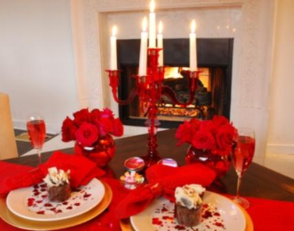 День Святого Валентина.Ужин для двоих.