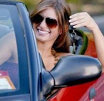 Современная девушка и автомобиль