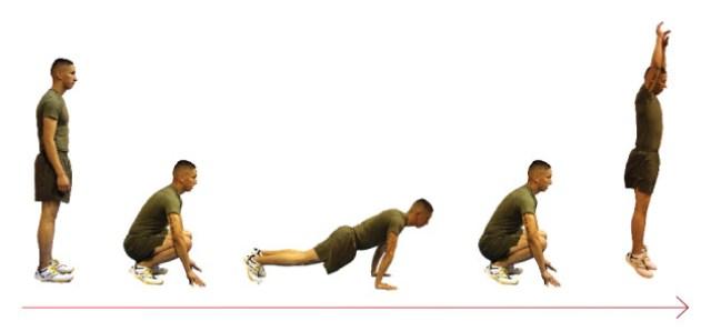 Бурпи - упражнение, которое можно делать дома.