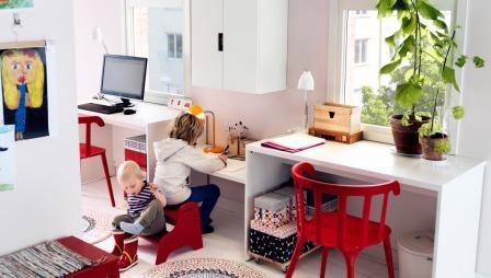 Место в детской комнате - варианты экономии пространства.