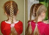 Интересные детские прически для длинных волос