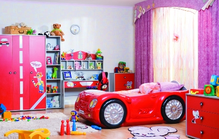 Необычное оформление детской комнаты