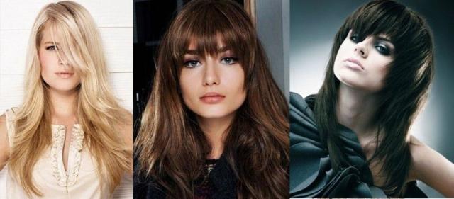 На фото три варианта новогодней прически для девушек с длинными волосами.