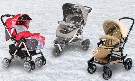 Несколько зимних колясок на выбор