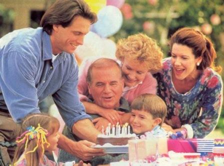 Семейный вечер в кругу семьи