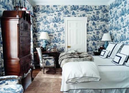 Текстиль в интерьере спальни.