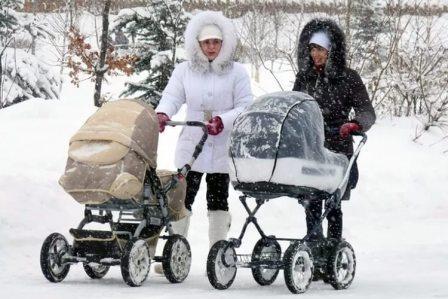 Коляска для зимних прогулок