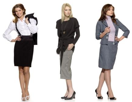 В чем девушки ходят на работу?