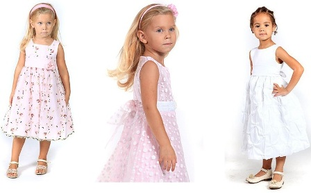 Детские выпускные платья для девочек