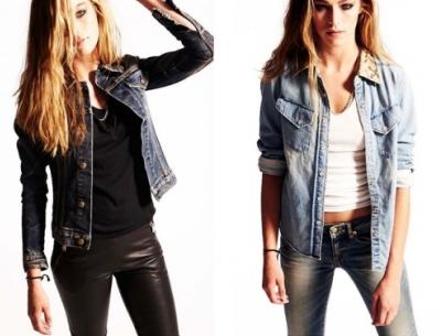 Джинсовая одежда в моде 2013