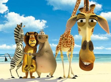 Любимые детские мультфильмы. Мадагаскар.