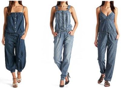 Женские джинсовые комбинезоны 2013