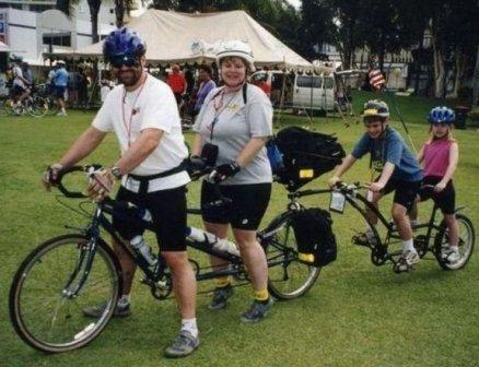Активный семейный отдых. Велосипед.