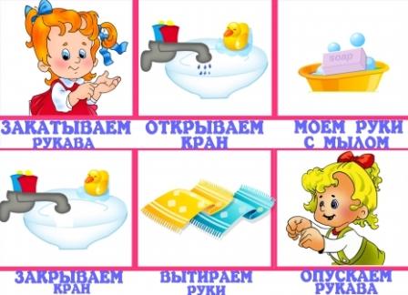 Правила гигиены в детском саду