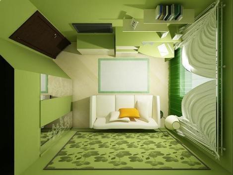 Детская комната - вид сверху