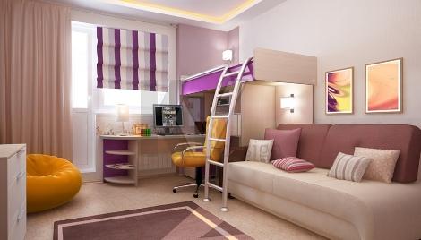 Правильное расположение кровати в детской