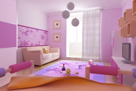 Планирование детской в розовых тонах