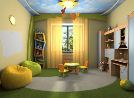 Детская комната в спокойных тонах