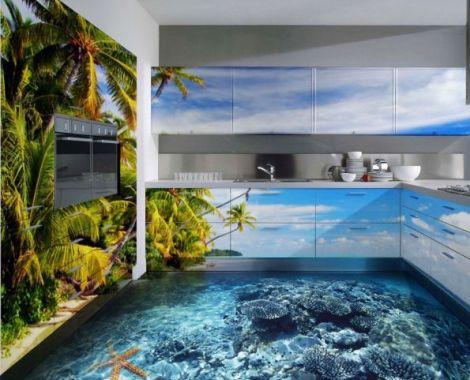 3d полы для кухни