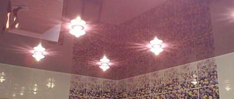 Натяжные потолки с эффектом перламутра