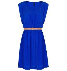 Синие платья могут быть красивыми
