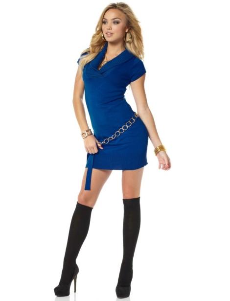 Синее платье для высокой стройной девушки