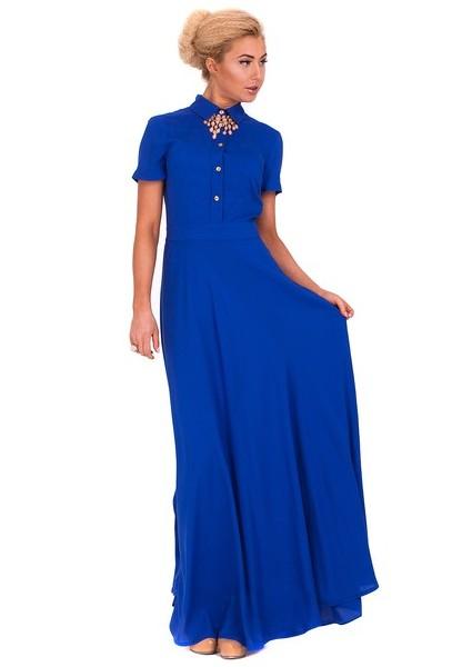 Неплохое синее платье