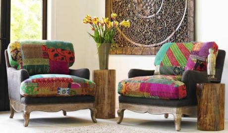 Кресла оформленные пэчворком