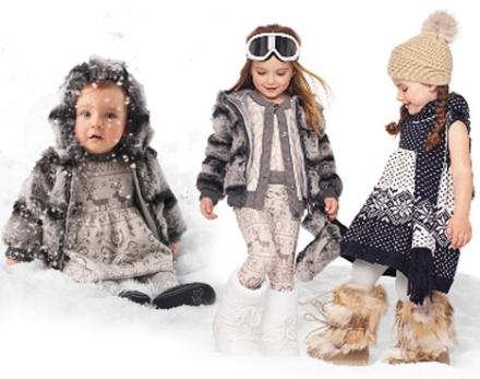 Девочка в модной зимней одежде 2015