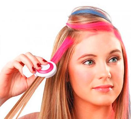 Как красят волосы мелками?