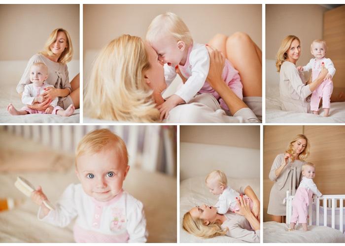 Фотосессия малыша с мамой не менее ценна
