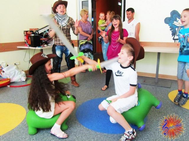 Ковбойские развлечения во время детского праздника