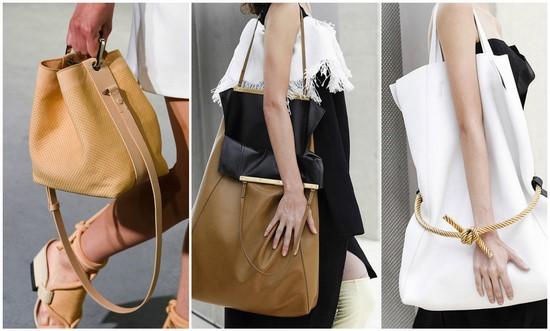 На фото модные практичные большие сумки.