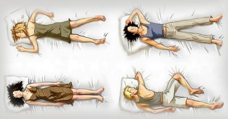Позиции человека во время сна