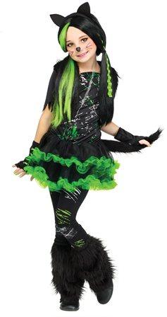 Девочка в классном новогоднем костюме (образ cool cat)