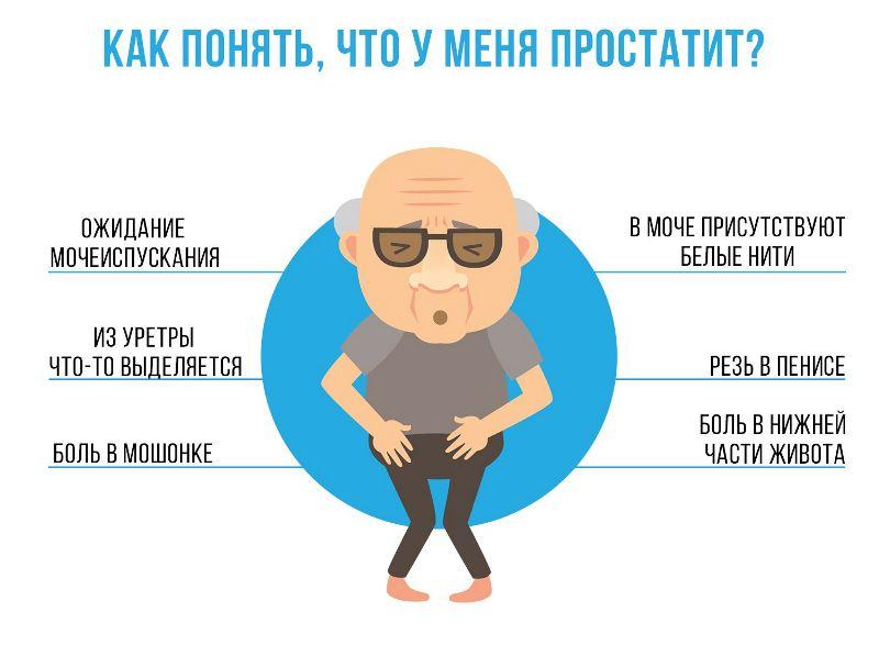 Как понять что простатит - инфографика